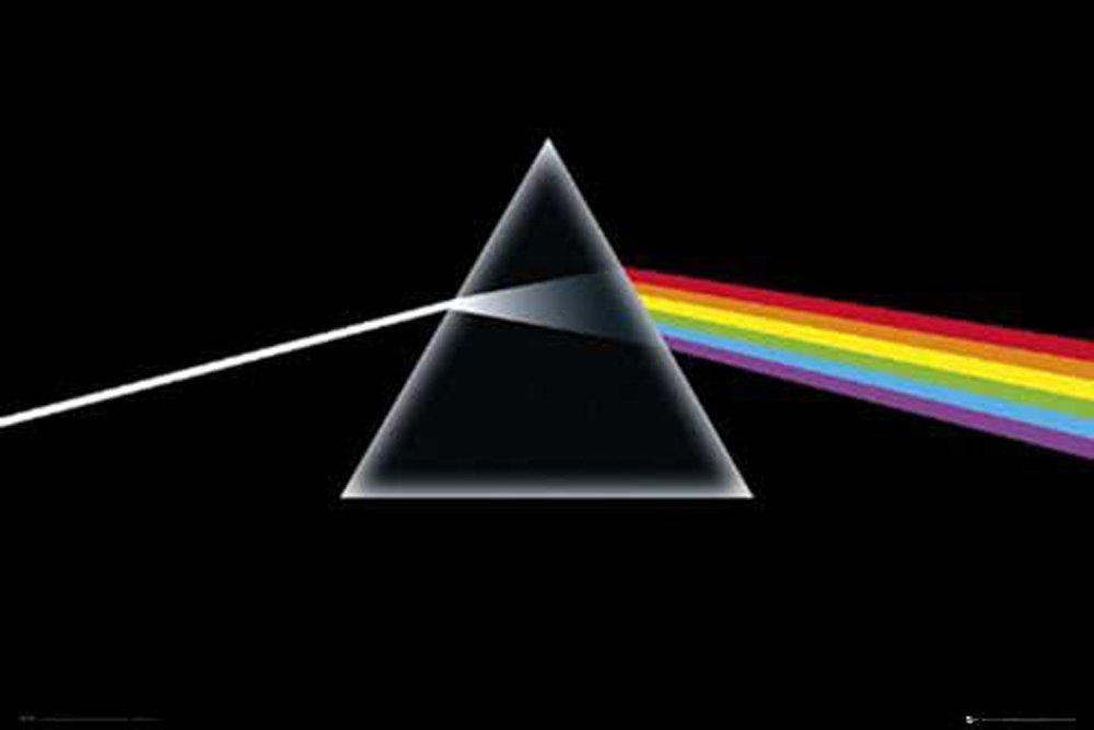 "Empire Merchandising GmbH Consignment con cornice Avec 2 baguettes noires Poster della copertina dell/'album /""The Dark Side of The Moon/"" dei Pink Floyd"