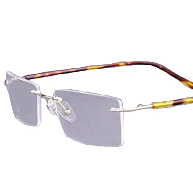 f5f6f211aad Image Unavailable. Image not available for. Color  Gold + Tortoise Shell 3  Colors Titanium-alloy Rimless ...