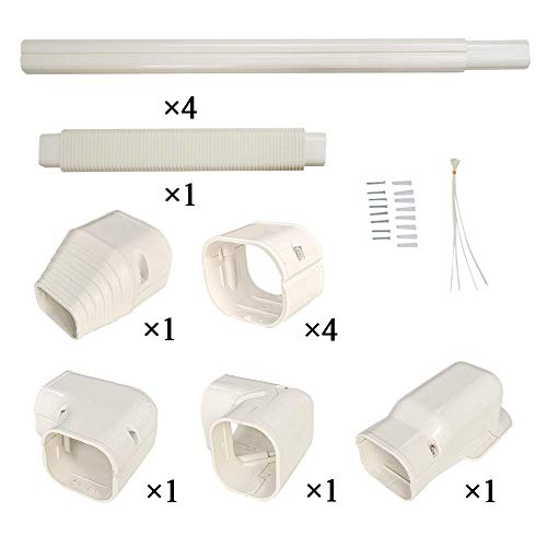 WOSTORE Decorative PVC Line Cover Duct Kit for Split Air Conditioners and Heat Pumps HVAC