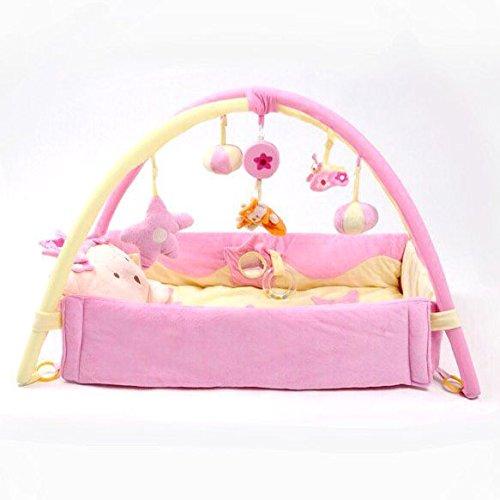 PS BABY 持ち運びバック付き ベットになる プレイジム (ピンク)