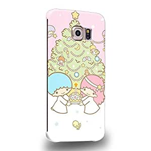 Case88 Premium Designs Little Twin Star Kiki And Lala Dreamy Diary 1316 Protective Snap-on Hard Back Case Cover for Samsung Galaxy S6 Edge (Not Normal S6 !)