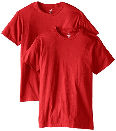 Hanes Men's Nano Premium Cotton T-Shirt Pack of 2, Deep Red,