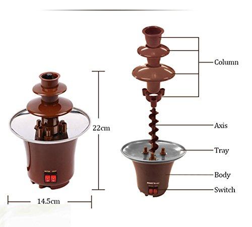 LoveQmall Mini Chocolate Fountain Creative Design Chocolate Melt With Heating Fondue Machine 3-Layers ()
