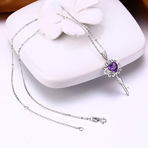 Fine Jewelry for Women Sterling Silver Citrine and Amethyst Pendant Necklace