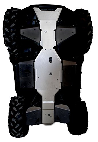 Kawasaki Brute Force 750 Aluminum 3 Piece Frame Skid Plate by Ricochet Set For 2008, 2009, 2010, 2011, 2012, 2013, 2014, 2015, 2016