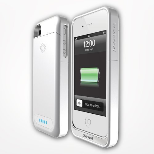 PhoneSuit ELITEIP4W Elite 2100 mAh Battery Case for iPhone 4/4S- Retail Packaging