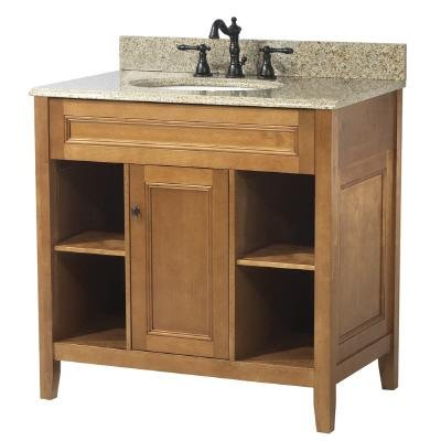 Foremost TRIA3022 Exhibit 30-Inch Vanity, Rich Cinnamon Maple ()