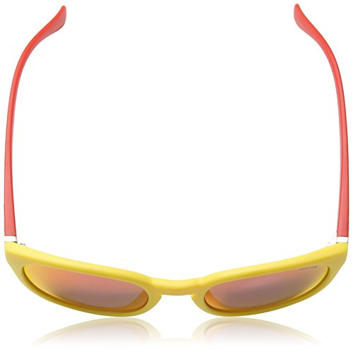 Police - Lunette de soleil S1937 Hot 2 Ovale YELLOW & RED FRAME / RED MIRROR LENS