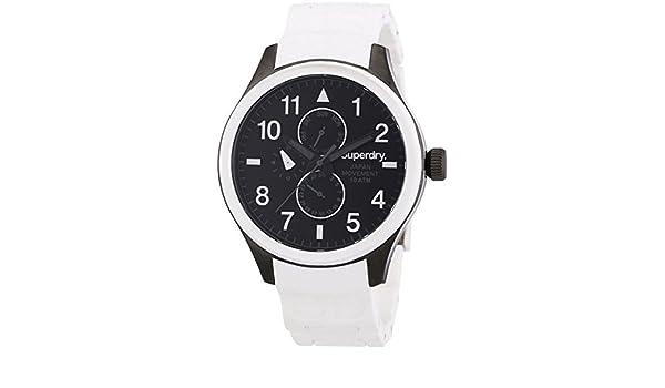 Amazon.com: Reloj superdry Scuba multf.Blanco Mens Analog Japanese Quartz Watch with Silicone Bracelet SYG110W: Watches