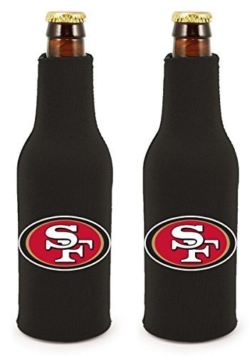 (NFL Football 2014 Team Color Logo Bottle Suit Holder Cooler 2-Pack (San Francisco 49ers))