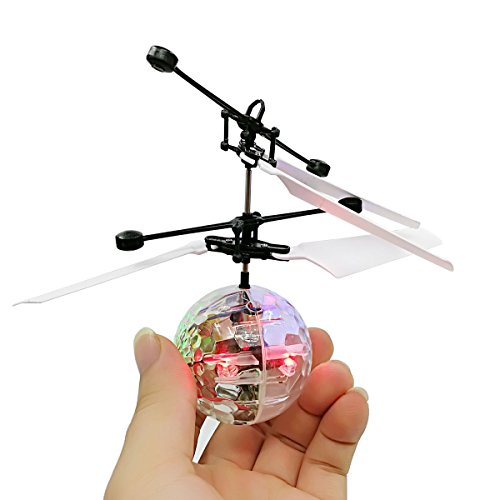 Fly Helicopter Kit (GuangTouL RC Flying Ball,Kid Flight Toys,RC Infrared Induction Helicopter Ball LED Shinning Magic Flying Ball Toy for Kids Teenagers Toys)