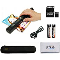 VuPoint ST415 Magic Wand Portable Scanner, Protective Case, 8GB SD Card, OCR Software, JPG/PDF, 900DPI, Color/Mono, for Document/Photo (Black)