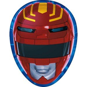 Mighty Morphin Power Rangers Masks (MIGHTY MORPHIN POWER RANGERS 9 Inch Party Plates (8 Count))