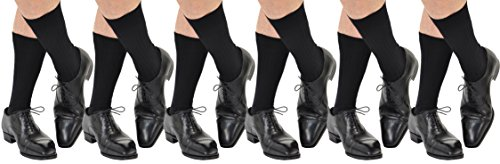 6 Pairs Men's ExtraFine Merino Marcoliani Mid-Calf Italian Dress Socks: 6 Black by Marcoliani Milano