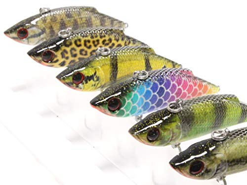 wLure Lipless Crankbait Long Casting RealSkin Color Pattern for Bass Fishing Bass Lure Fishing Lure with Tackle Box HL536KB (Best Lipless Crankbait For Bass)