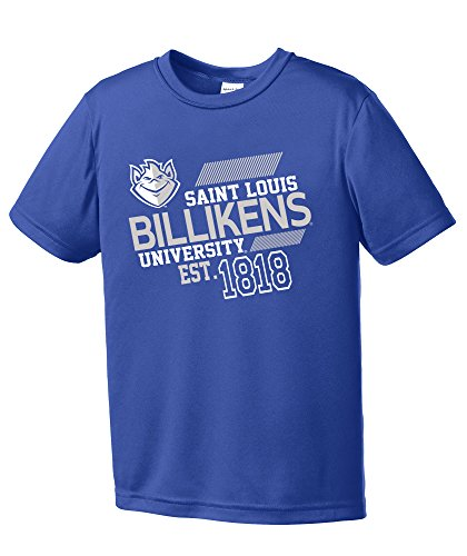 - NCAA St. Louis University Billikens Youth Boys Offsides Short sleeve Polyester Competitor T-Shirt, Youth Large,Royal