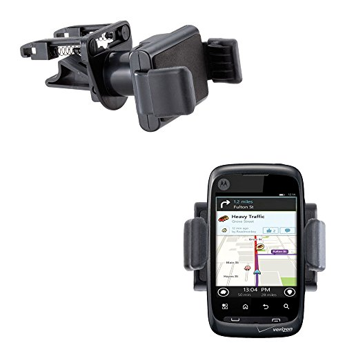 Gomadic Ultra Compact Air Vent Clip Based Cradle Holder Car   Auto Mount Suitable For The Motorola Ciena