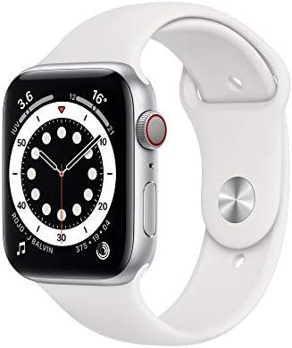 Nuevo AppleWatch Series6 (GPS + Cellular)- Caja de aluminio color plata de 44mm- Correa deportiva blanca - Estándar 3