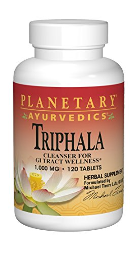 Planetary Ayurvedics Triphala 1000mg GI Tract Wellness & Cleanse – Powerful Antibacterial, Anti-Inflammatory Herbal Supplement – Balance & Detox Digestive Support Rejuvinate & Regularity – 120 Tablets
