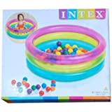 Intex Big Multi Colour Inflatable Baby Pool Bath Water Tub For Kids