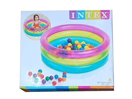 Happie Shop Intex Big Multi Colour Inflatable Baby Pool Bath Water ...