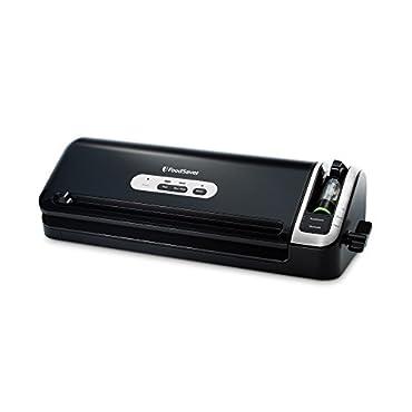 FoodSaver FM3920-ECR 2-in-1 Manual Operation Vacuum Sealing System for Food Preservation, Black