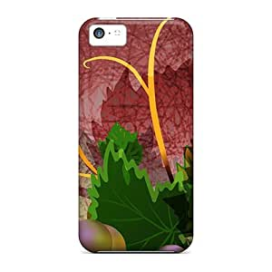 Premium Grape Harvest Back Covers Snap On Cases For Iphone 5c