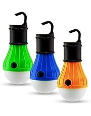 Astorn Paquete de 3 Piezas Lámparas para Exterior para Tiendas de Acampar Y Campismo |Bulbos de Exterior Linternas con Luz LED | Enciende con Baterías Luces para Campismo | Paquete de Luces para Exterior Portátiles