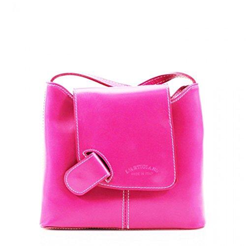 Shoulder crossbody Ladies Bag Body Over Adjustable Bag Pelle Leather Fuchsia Women Cross strap Messenger Vera Bag q7wHnzr6q