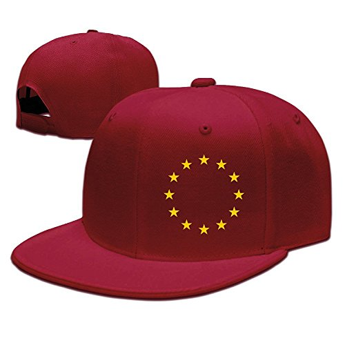 MaNeg Flag Of Europe Unisex Fashion Cool Adjustable Snapback Baseball Cap Hat One Size - Chanel Online Uk Store