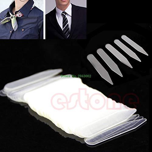 - Dalab 200Pcs/lot Plastic Clear Men Women Formal Shirt Collar Bones Stiffeners Stays Tabs Support
