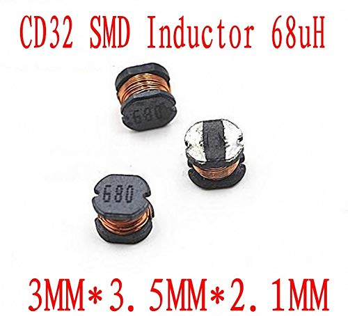 Maslin 3000pcs SMD Power Inductor CD32 68uH Chip Inductor 332mm Unshielded Wirewound