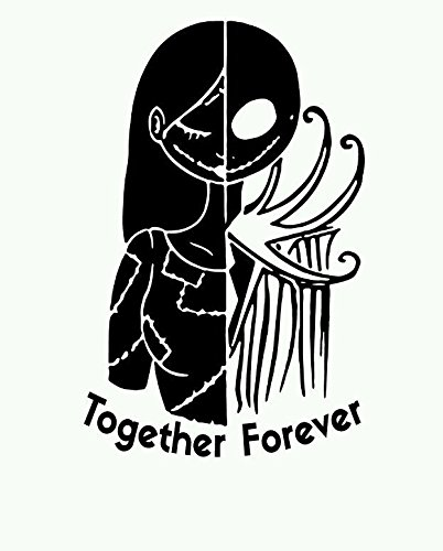nightmare before christmas car decal jack and sally love window decal die cut vinyl decal - Jack From The Nightmare Before Christmas