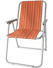 diMio Retro Design klapstoel in 8 trendy designs, camping tuin vissersstoel jaren 70 met aluminium frame (strepen)