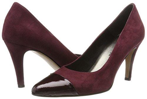 Tamaris Rojo vino Para Mujer Zapatos Tacón 22442 patent De RqrSRwY