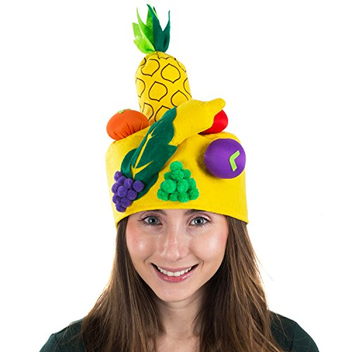 Tigerdoe Fruit Costume Hat - Fruit Hat - Costume Hats - Food Hats - Novelty Hats - Food Costumes (Fruit Hat) Yellow]()