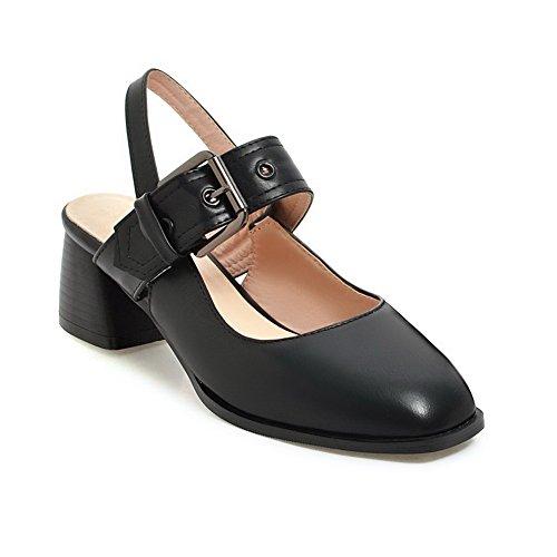 Noir 36 Compensées Noir EU 5 Femme BalaMasa Sandales ASL05395 UxHR7R