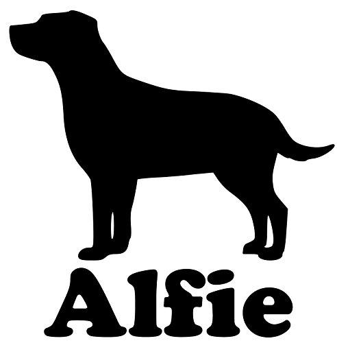 Chocolate Sticker Labrador (Minglewood Trading Labrador Retriever Dog Vinyl Decal Sticker w/Custom Personalized Name 5