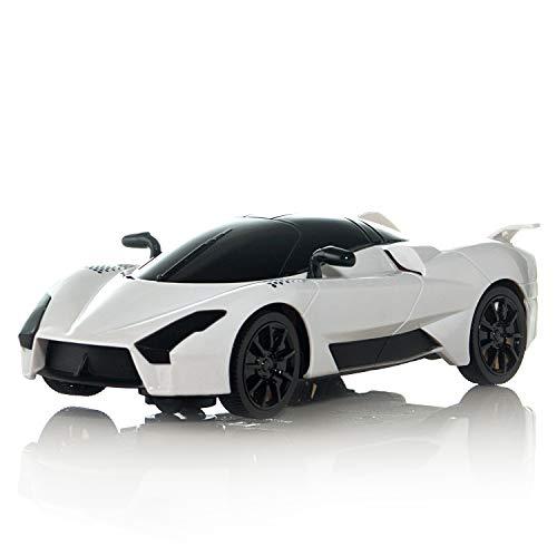 Bump N' Go Race Car Push Toy for Kids Children w/ Flashing Lights & Music (White) ()