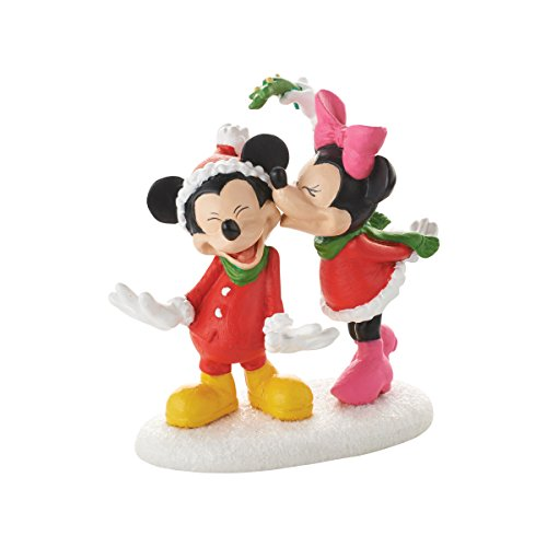 Department 56 Disney Village Mickey's Christmas Kiss Accessory Figurine, 2.5 inch (56 Disney Village)