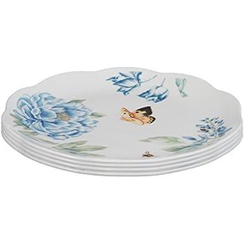 Lenox Butterfly Meadow Assorted Blue Dessert Plates, Set of 4