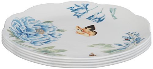Lenox Butterfly Meadow Assorted Blue Dessert Plates, Set of 4 (Lenox Porcelain Plates)