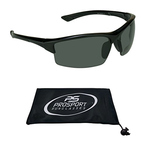 Polarized Bifocal Sun Reader Sunglasses 2.5 with Premium 12mm TAC Polarized Lenses and Tr90 Frame. Free Microfiber Cleaning Case Included.