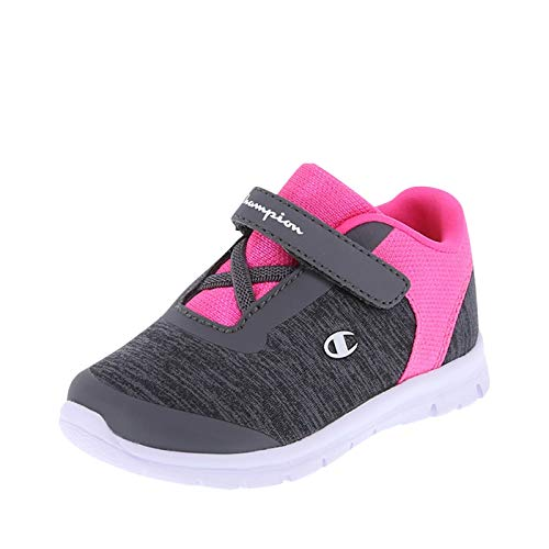 (Champion Grey Pink Girls' Infant Performance Gusto Cross Trainer 4 Wide)