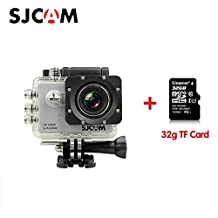 Original SJCAM SJ5000 Sport Action Camera Video Camcorder 1080P 170°Wide Angle Lens Waterproof Outdoor Sports Riding Diving Skiing Car DVR DV with 32G TF Card Silver