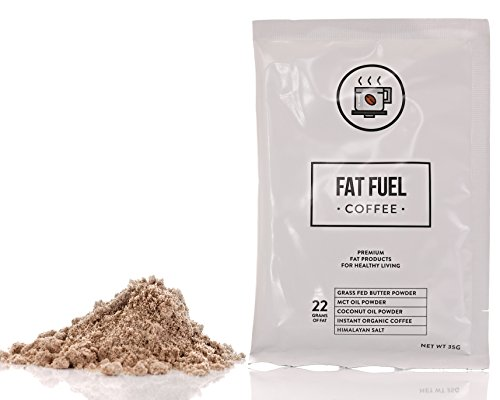 Fat Stimulus Coffee the Only Instant Keto Diet Coffee with Grass Fed Butter, MCT Oil & Coconut Oil Powders, for High Fat/Low Carb Food to Keep you Upgraded & Preponderance Loss, 15 Servings