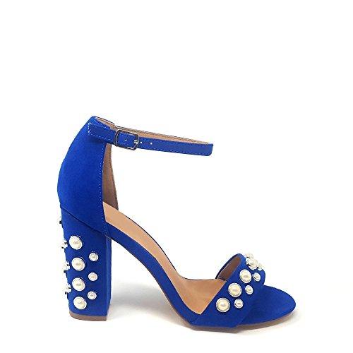 in Diva camoscio cinturino cobalto alla caviglia color Miss OSq8IO