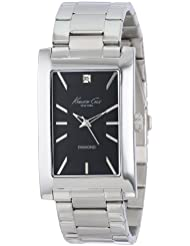 Kenneth Cole New York Mens KC9284 Rock Out Black Dial Diamond Dial Analog Bracelet Watch