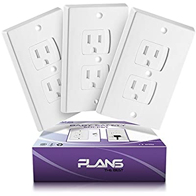 PLANS Best Child-Safety Self-Closing Outlet Covers - 3 Electrical Socket Covers