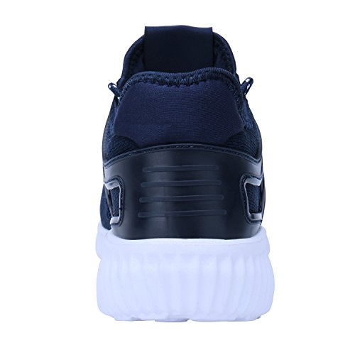 Running Men's Blue Breathable Walking 2 Shoes Sneakers Lightweight Tennis Casual dark qCUrngEwC
